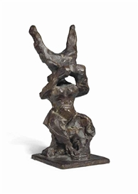 Artwork by Jacques Lipchitz, Study for Return of the Child, Made of bronze with brown patina