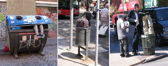 Mark Jenkins, Rome 2012, Barcelona 2008, NYC 2006