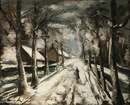Artwork by Maurice de Vlaminck, La route sous la neige, Made of Oil on canvas