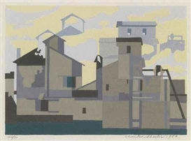 Artwork by Charles Sheeler, Architectural Cadence, Made of Color screenprint