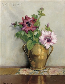 Artwork by Ruth Payne Burgess, Floral Still Life, Made of Oil on canvas