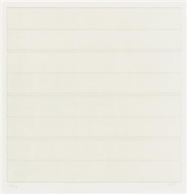 Artwork by Agnes Martin, Untitled, Made of lithographs printed in colors