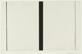 Artwork by Barnett Newman, Untitled etching #1, Made of Etching