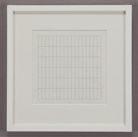 Artwork by Agnes Martin, On a Clear Day, Made of screenprint