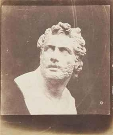 Artwork by William Henry Fox Talbot, Bust of Patroclus, circa 1846, Made of calotype print