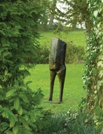 Artwork by Kenneth Armitage, Standing Figure, Made of bronze with brown patina