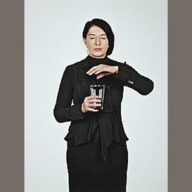 Marina Abramović, Portrait with Glass of Water