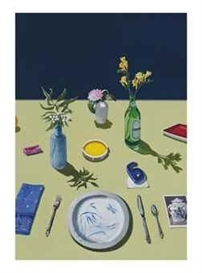 Artwork by Paul Wonner, Study for Still Life with Bubble Gum and Plastic 6, Made of acrylic on paper