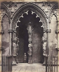 Artwork by Roger Fenton, West Porch, Lichfield, Made of albumen print