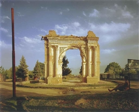 Artwork by Simon Norfolk, King Amanullah's Victory Arch, Made of chromogenic print