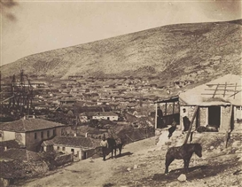 Artwork by Roger Fenton, The Town of Balaklava, Made of salted paper print
