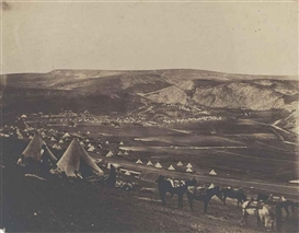 Artwork by Roger Fenton, Cavalry Camp, Balaklava, Made of salted paper print