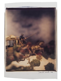 Artwork by David Levinthal, Stagecoach, Made of polaroid polacolor print