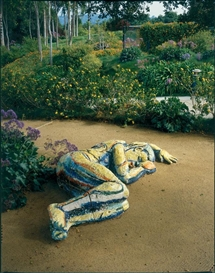 Artwork by Viola Frey, Sleeping Man, Made of Ceramic sculpture