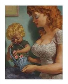 Artwork by John Currin, Maid of Honor, Made of oil on canvas