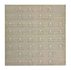 Artwork by Agnes Martin, Words, Made of ink and graphite on paper mounted on canvas