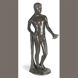 Artwork by Richmond Barthé, Black Narcissus, Made of patinated bronze with dark olive brown patina