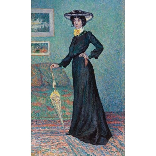 Artwork by Maximilien Luce, LUCIE COUSTURIER, Made of Oil  on  canvas