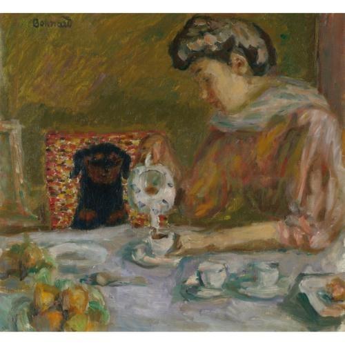Artwork by Pierre Bonnard, LE CAFÉ, Made of Oil  on  canvas