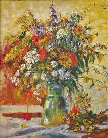 Artwork by Vincenc Benés, Field bouquet, Made of oil, canvas