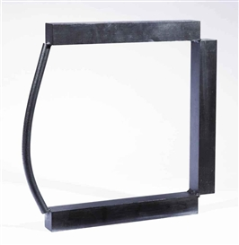 Artwork by Carel Visser, Hole, Made of welded steel with a black patina