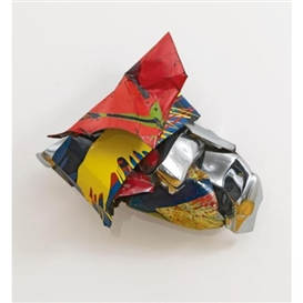 Artwork by John Chamberlain, Zapf, Made of painted and chromium plated steel