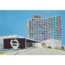 Artwork by Enoc Pérez, Havana Riviera Hotel, La Havana, Cuba, Made of oil on canvas