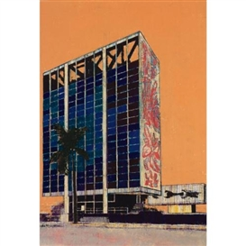 Artwork by Enoc Pérez, Bacardi Headquarters, Miami June 2009, Made of oil on paper