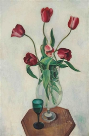 Artwork by Charles Sheeler, Tulips, Made of oil on canvas