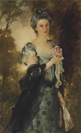 Artwork by John Singer Sargent, Mrs. William Crowninshield Endicott, Jr., Made of oil on canvas