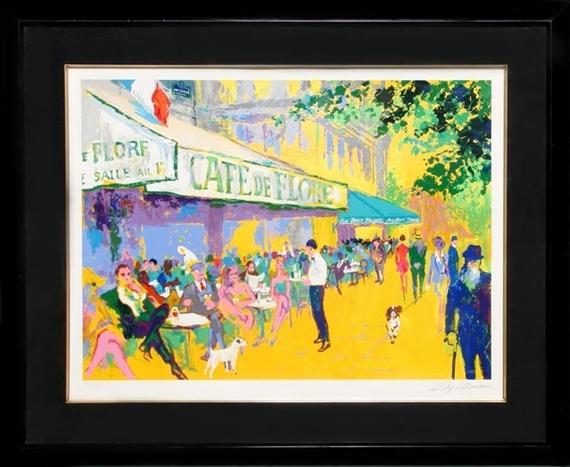 Leroy Neiman Cafe De Flore