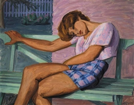Artwork by John Goodwin Lyman, La fille assoupie, Made of oil on canvas