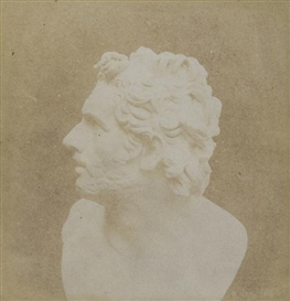 "Artwork by William Henry Fox Talbot, Bust of Patroclus ""The Pencil of Nature"", Made of Vintage salt print from paper negative, on orginal card mount"