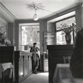 Artwork by Louis Stettner, Café Pierre, Made of Gelatin silver print