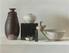 Artwork by Claudio Bravo, VASIJAS DE PORCELANA, Made of pastel on paper
