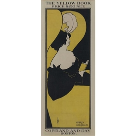 Artwork by Aubrey Beardsley, The Yellow Book, Made of color lithograph