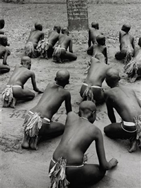 Artwork by George Rodger, Bari Schoolgirls, near Yei, Southern Sudan, Made of Gelatin silver print