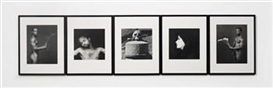 Artwork by Robert Mapplethorpe, 5 works: Terrae Motus, Made of gelatin silver prints