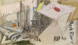Artwork by Max Oppenheimer, War End (2nd World War), Made of oil on canvas