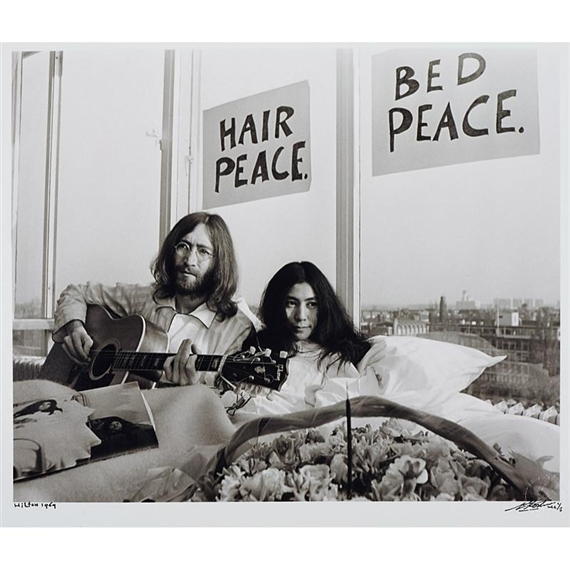 Koster Nico Two Works John Lennon Yoko Ono Bed In 1969 Mutualart
