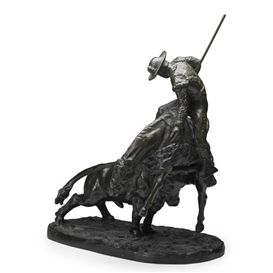 Artwork by Malvina Hoffman, Un Puyazo (The Picador), Made of Bronze