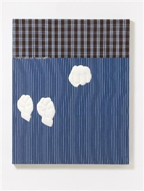 Artwork by Cosima von Bonin, BUBBLING (LOOP # 02/12), Made of Cotton fabric, sewn together, collaged with elements of fabric