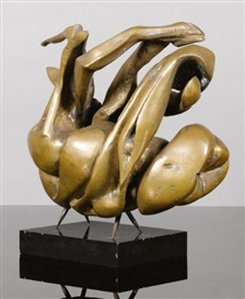 Artwork by Henri Etienne-Martin, Le Petit Canard, Made of bronze