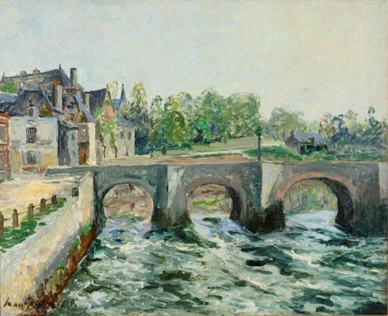 Artwork by Maxime Maufra, Le Pont Saint-Goustan à Auray: Morbihan, Made of Oil on canvas