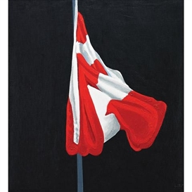Artwork by Charles Pachter, The Painted Flag, Made of oil on canvas