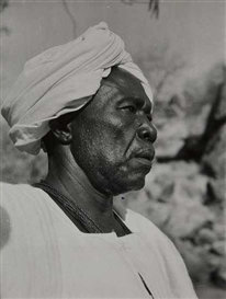 Artwork by George Rodger, The Mek of the Mesakin Tiwal, Sheikh Salim Abdullah, Kordofan, Sudan, Made of Gelatin silver print
