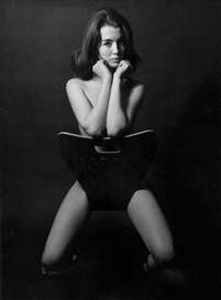 Artwork by Lewis Morley, Christine Keeler, Made of Gelatin silver print