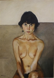 Artwork by Walter Wörn, Nude, Made of oil on canvas