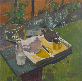 Artwork by William John Leech, THE TEA TRAY, Made of Oil on canvas