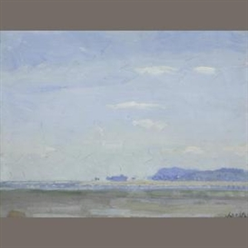 Artwork by William John Leech, Sutton Sands, Made of oil on canvas laid on board